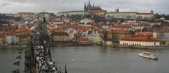 Prague Castle, a view I would see every day on the way to school