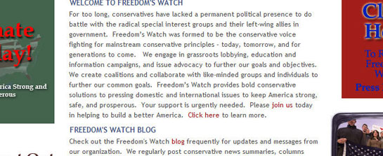Freedoms Watch Portal image 2