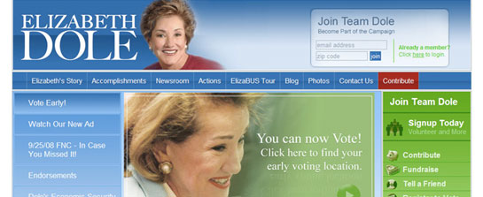 Elizabeth Dole for Senate image 1